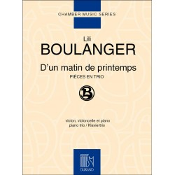 Partition Lili Boulanger D'un matin de printemps Trio avec piano Le kiosque à musique Avignon