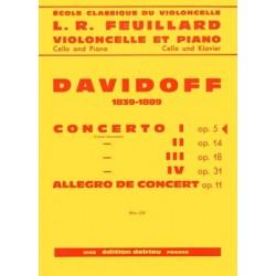 Partition violoncelle Davidoff Concerto n°1 Le kiosque à musique Avignon