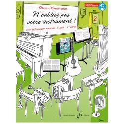 N'oubliez pas votre instrument 2 professeur GB9994B le kiosque à musique Avignon