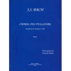PARTITION PIANO BACH CHORAL DU VEILLEUR Le kiosque à musique Avignon
