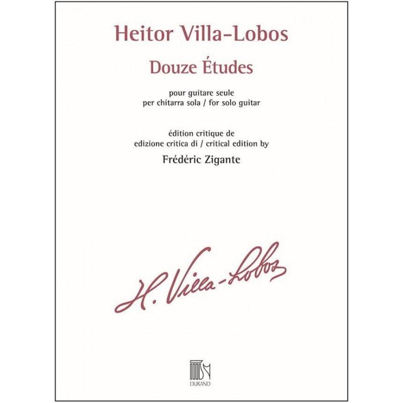Partition guitare VIlla Lobos 12 Etudes Le kiosque à musique Avignon