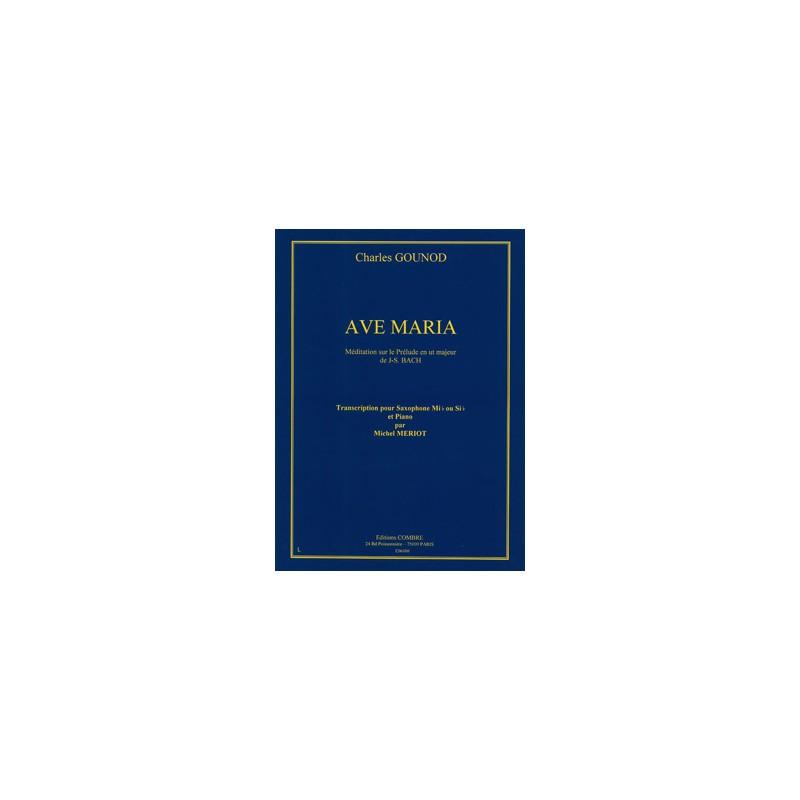 Partition saxophone Ave Maria de Gounod C06100 Le kiosque à musique