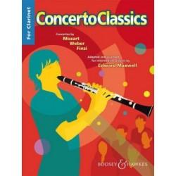 Partition CONCERTO CLASSICS for clarinet BH11950 Le kiosque à musique Avignon