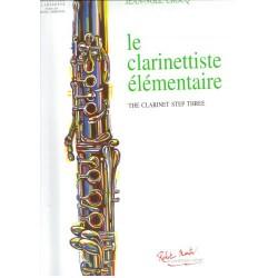 Partition Le Clarinettiste élémentaire RM2961 Le kiosque à musique Avignon
