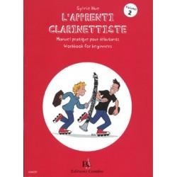 Partition L'apprenti clarinettiste volume 2 C06137 Le kiosque musique Avignon