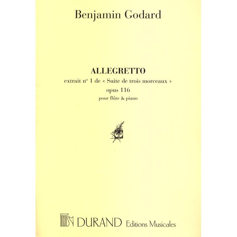 Partition Flûte - Benjamin Godard : Allegretto - Le kiosque à musique Avignon