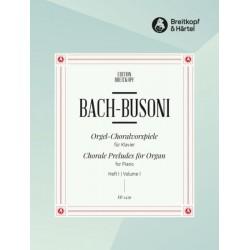 Partition Bach Busoni Choral Preludes EB2459  kiosque musique Avignon