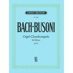 Partition piano Bach Busoni Chorals Préludes EB2460 Kiosque musique Avignon