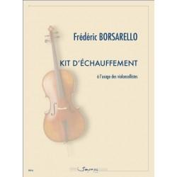 Partitio violoncelle Kit d'échauffement F Borsarello Kiosque musique Avignon