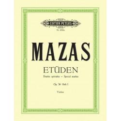 Partition violon Etudes spéciales de Mazas - Peters - Kiosque musique Avignon