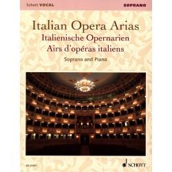 Italian Operas Arias pour soprano - Schott - Kiosque musique Avignon