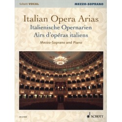 Italian Opera Arias Schott vocal Mezzo soprano Ed21420 Kiosque musique