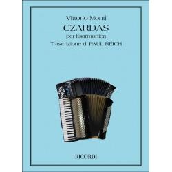 Partition Accordéon Czardas de Monti Kiosque musique Avignon
