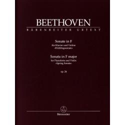 Partition violon Beethoven Sonate Le Printemps BA10937 Kiosque musique Avignon
