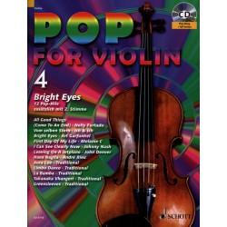 Partition POP FOR Violin - Volume 4 - Editeur SCHOTT - Kiosque Musique Avignon