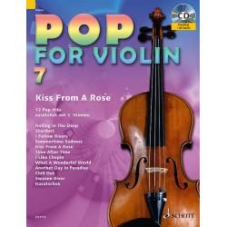 Partition POP FOR Violin Volume 7 - Edition SCHOTT - Kiosque Musique Avignon