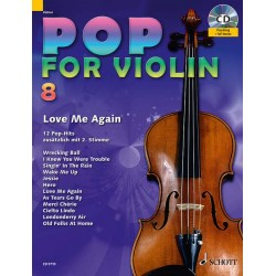 Partition POP FOR Violin Volume 8 - Edition SCHOTT - Kiosque Musique Avignon