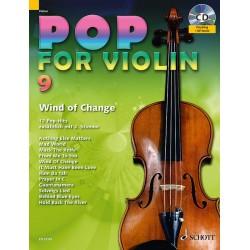 Partition POP FOR Violin Volume 9 - Edition SCHOTT - Auteur : Michael ZLANABITNIG - Kiosque Musique Avignon