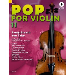 Partition POP FOR Violin Volume 11 - Edition SCHOTT - Michael ZLANABITNIG - Kiosque Musique Avignon
