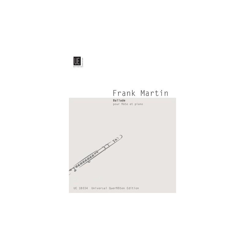 Partition Frank Martin Ballade pour flûte - Kiosque musique Avignon