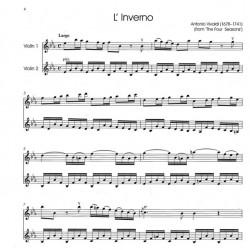 Partition 2 violons - Vivaldi l'Hiver - Le kiosque à musique Avignon