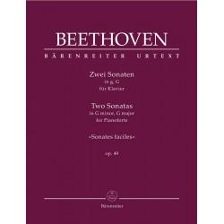 Partition piano Beethoven Sonates Opus 49 - Le kiosque à musique Avignon