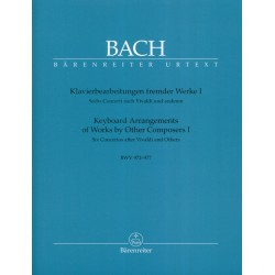 Partition BACH Keyboard arrangements - Barenreiter BA5221 - Kiosque musique Avignon