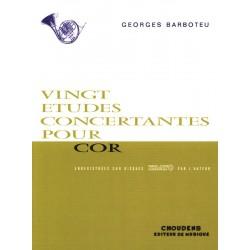 Barboteu Etudes Concertantes pour cor - Choudens - Kiosque musique Avignon
