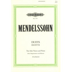 Partition Mendelssohn Duos pour 2 sopranos et piano - Kiosque musique Avignon