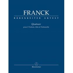 Partition César Franck Quatuor à cordes - Kiosque musique Avignon