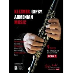 KLEZMER GIPSY ARMENIAN MUSIC CLARINETTE BOOK 2 - Kiosque musique Avignon