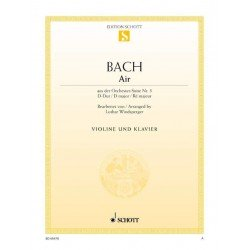 PARTITION FLUTE ARIA BWV 1068 - KIOSQUE MUSIQUE AVIGNON