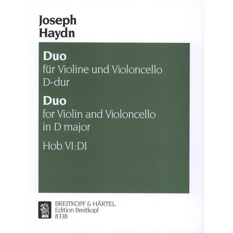 PARTITION HAYDN DUO VIOLON VIOLONCELLE HOB VI:D1 - KIOSQUE MUSIQUE AVIGNON