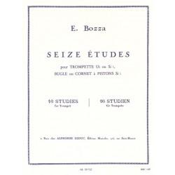 16 ETUDES POUR TROMPETTE DE BOZZA - KIOSQUE MUSIQUE AVIGNON