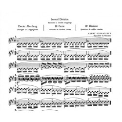 Partition violon Schradieck - Doubles cordes - Kiosque musique Avignon