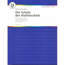 Partition violon Schradieck Ecole de la technique 3 - Kiosque musique Avignon