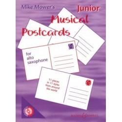 MIKE MOWER JUNIOR MUSICAL POSTCARDS SAXOPHONE - Kiosque musique Avignon