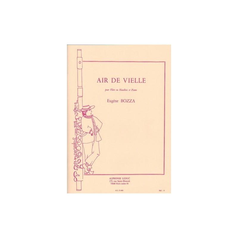 Partition flûte Eugene Bozza Air de Vielle AL25408 Le kiosque à musique