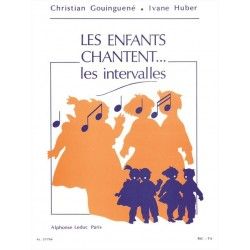 Partition Les enfants chantent les intervalles - Kiosque musique Avignon