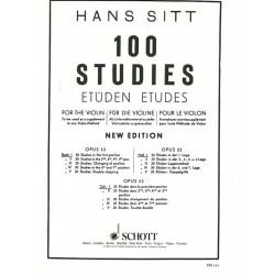 Partition violon 100 Etudes de Sitt volume 1 - Kiosque musique Avignon