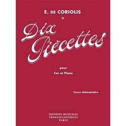 Partition 10 Piècettes de Coriolis - Le kiosque à musique Avignon