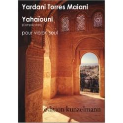 Partition YAHAIOUNI pour violon solo - Kunzelmann - Yardani Torres Maiani - Kiosque musique Avignon