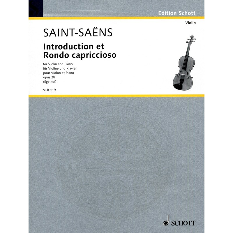 Partition violon Saint-Saëns Introduction et Rondo Capriccioso - Avignon kiosque musique