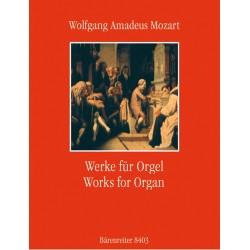 Partition orgue Mozart - Werke fur orgel - Kiosque musique Avignon