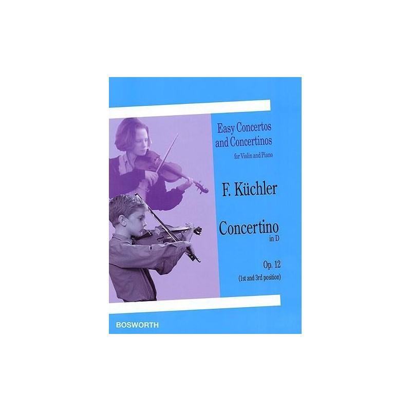 Partition violon Kuchler Concertino Opus 12 - Kiosque musique Avignon