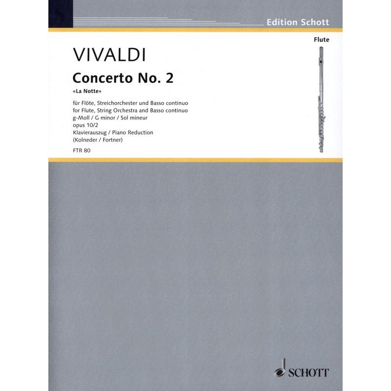 Partition flûte Vivaldi Concerto La Notte - FTR80 - Kiosque musique Avignon