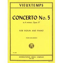 Partition violon VIEUTEMPS Concerto n°5 - Kiosque musique Avignon