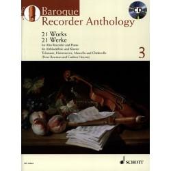 Baroque recorder anthology 3 - kiosque musique Avignon