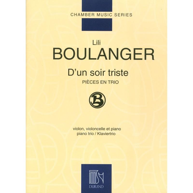Partitio trio avec piano Lili Boulanger - D'un soir triste - Le kiosque à musique