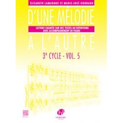 D'UNE MELODIE A L'AUTRE 3e CYCLE VOLUME 5 - Avignon